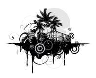 Extracto con las palmeras stock de ilustración