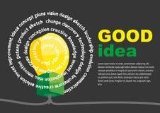 Extracto creativo de la idea de la bombilla infographic Fotos de archivo libres de regalías