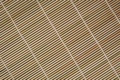 Extracto de bambú del placemat Fotos de archivo libres de regalías