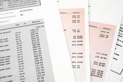 Extracto de cuenta de la tarjeta de crédito Imágenes de archivo libres de regalías