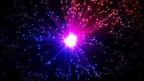 Extracto de fibra óptica multicolor de los cables imágenes de archivo libres de regalías