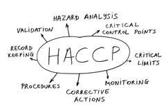 Extracto de HACCP Imagen de archivo libre de regalías