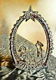 Extracto de Krystal de dos niños que cantan villancicos de la Navidad y que ruegan imagen de fondo stock de ilustración