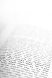 Extracto de la biblia con respecto a las siete especies Fotografía de archivo