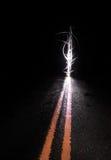 Extracto de la calle en la noche Foto de archivo libre de regalías