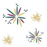 Extracto de la celebración de los petardos Fotos de archivo libres de regalías