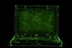 Extracto de la computadora portátil Imagen de archivo libre de regalías