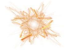Extracto de la estrella del oro en blanco stock de ilustración