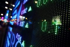 Extracto de la exhibición del precio de mercado de acción Imagenes de archivo