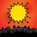 Extracto de la explosión del cómic ilustración del vector