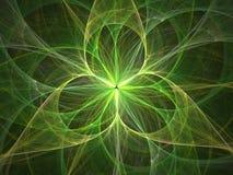 extracto de la luz de la flor 3D ilustración del vector