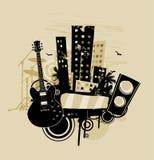 Extracto de la música stock de ilustración