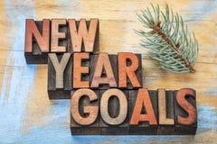 Extracto de la palabra de las metas del Año Nuevo Fotos de archivo libres de regalías