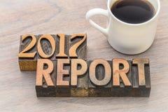 extracto de la palabra de 2017 informes en tipo de madera del vintage Imagen de archivo libre de regalías