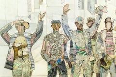 Extracto de la pared de los trabajadores industriales Foto de archivo