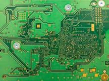 Extracto de la placa de circuito con color verde Fotos de archivo libres de regalías