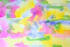 Extracto de la primavera de la acuarela Imagen de archivo libre de regalías