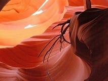 Extracto de la roca en un barranco más bajo del antílope en Arizona imagen de archivo