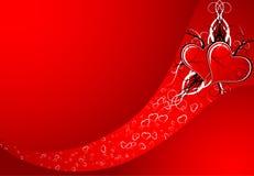 Extracto de la tarjeta del día de San Valentín Fotos de archivo libres de regalías