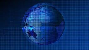 Extracto de la tecnología de red de datos de la tierra stock de ilustración