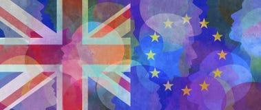 Extracto de la unión de Reino Unido Europa libre illustration
