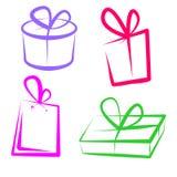 Extracto de las cajas de regalos imagen de archivo libre de regalías