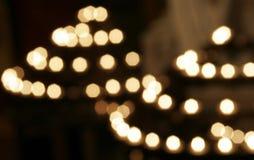 Extracto de las llamas de vela Imagen de archivo libre de regalías
