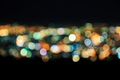 Extracto de las luces de la ciudad Blurred Foto de archivo