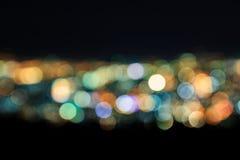 Extracto de las luces de la ciudad Blurred Imagenes de archivo