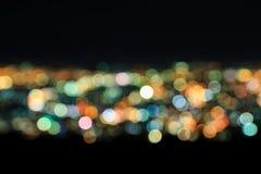 Extracto de las luces de la ciudad Blurred Fotos de archivo libres de regalías