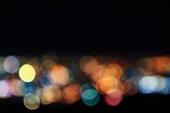 Extracto de las luces de la ciudad Blurred Imagen de archivo
