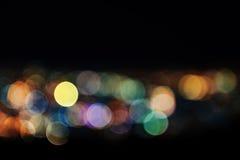 Extracto de las luces de la ciudad Blurred Imagen de archivo libre de regalías