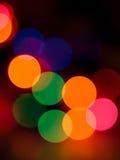 Extracto de las luces de la Navidad Fotografía de archivo