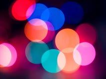 Extracto de las luces de la Navidad Imagen de archivo
