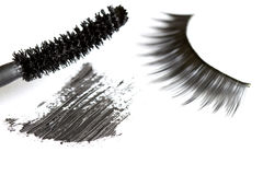 Extracto de las pestañas y de los cosméticos de la sombra de ojos Fotografía de archivo libre de regalías
