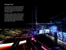Extracto de las tecnologías espaciales fotografía de archivo