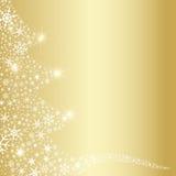 Extracto de los copos de nieve del árbol de navidad stock de ilustración
