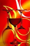Extracto de los vidrios de vino Imagen de archivo libre de regalías