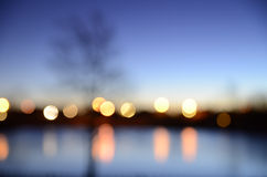 Extracto de luces a través del agua Fotos de archivo