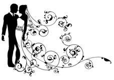 Extracto de novia y del novio libre illustration