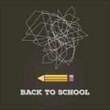 Extracto de nuevo a escuela Imagen de archivo libre de regalías