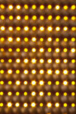 Extracto de oro de la iluminación Foto de archivo