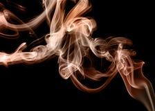 Extracto de oro moderno del humo Papel pintado de escritorio Foto de archivo libre de regalías