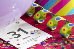 extracto del Año Nuevo 2015 con el calendario Fotos de archivo