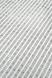 Extracto del código binario. fotografía de archivo