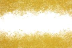 Extracto del chapoteo de la acuarela de la tinta del oro o fondo de la pintura del vintage Foto de archivo