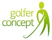 Extracto del concepto del golfista Imagen de archivo