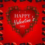 Extracto del día del ` s de la tarjeta del día de San Valentín Imagen de archivo
