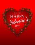 Extracto del día del ` s de la tarjeta del día de San Valentín Fotos de archivo