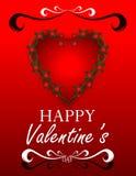 Extracto del día del ` s de la tarjeta del día de San Valentín Imágenes de archivo libres de regalías